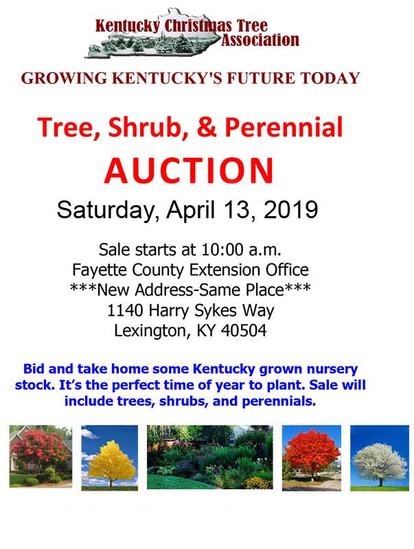 Kentucky Christmas Tree Association presents the 2017 Spring Auction - April 8, 2017 - Trees, Shrubs and Perennials